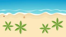 Piękny letni dzień na palmowej plaży ilustracja wektor