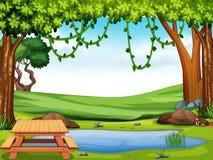 Piękny natura krajobraz royalty ilustracja