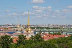 Piękny panoramiczny pejzażu miejskiego widok od St Isaac katedry zdjęcie royalty free