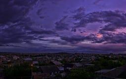 Piękny purpurowy zmierzch zdjęcie royalty free