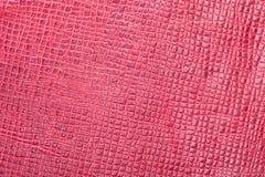 Piękny tło czerwona prawdziwa skóra Zakończenie macros fotografia stock