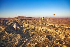 Piękny wschód słońca widok od balonu przy Cappadocia, Turcja obraz royalty free