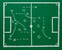 Piłki nożnej chalkboard blackboard strategii futbolowy pole obrazy stock