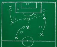 Piłki nożnej chalkboard blackboard strategii futbolowy pole zdjęcia royalty free