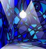 pièce abstraite bleue Photos libres de droits