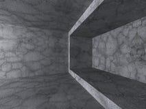 Pièce abstraite de murs en béton Fond d'architecture Photo stock