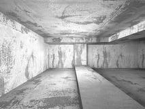 Pièce abstraite de murs en béton Fond d'architecture Photographie stock