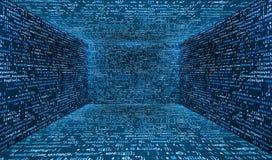 Pièce abstraite virtuelle de réalité de cyber d'imagination illustration libre de droits
