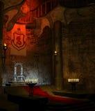 Pièce antique 1 de trône Images libres de droits