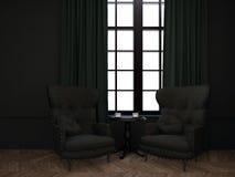 Pièce avec deux fauteuils Image libre de droits