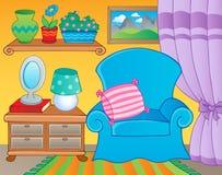 Pièce avec l'image 2 de thème de meubles Images stock