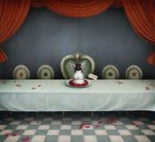 Pièce avec la table Photo stock