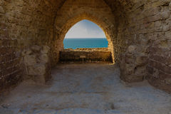 Pièce avec la vue vers la mer Photographie stock libre de droits
