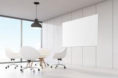 Pièce avec les murs blancs, grande fenêtre panoramique illustration de vecteur