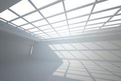 Pièce blanche avec des fenêtres au plafond illustration libre de droits