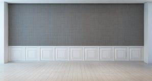 Pièce blanche et grise vide de mur image libre de droits