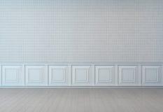 Pièce blanche vide de mur dans le style ancien Illustration Stock