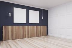 Pièce bleue, côté carré de deux affiches Image libre de droits
