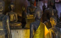 Pièce complètement de Buddhas Photo libre de droits