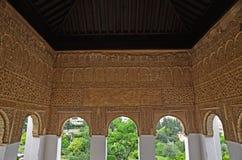 Pièce décorée dans le Generalife Photos libres de droits