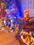 Pièce décorée pendant la nouvelle année photos libres de droits