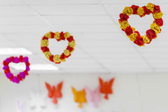 Pièce décorée pour le jour du ` s de Valentine Photos libres de droits