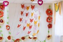 Pièce décorée pour le jour du ` s de Valentine Photos stock