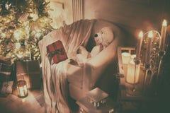 Pièce décorée pour Noël Images libres de droits