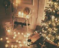 Pièce décorée pour Noël Photos libres de droits