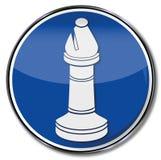 Pièce d'échecs avec un évêque illustration stock