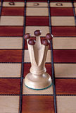 Pièce d'échecs blanche de reine Images libres de droits