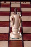 Pièce d'échecs blanche de roi Images stock