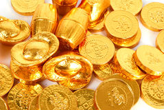 Pièce d'or illustration stock
