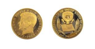 Pièce d'or américaine J F Kennedy Photo libre de droits