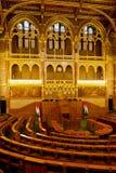 Pièce d'assemblée hongroise de Budapest du Parlement Photo libre de droits