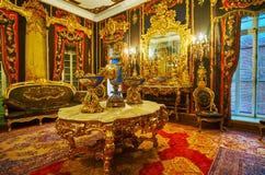 Pièce d'Aubusson de palais de Manial au Caire, Egypte photos stock