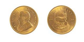 Pièce d'or de l'Afrique du Sud Images stock