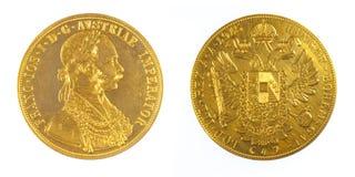 Pièce d'or de l'Autriche Imperator Kaiser Franz Joseph Photographie stock