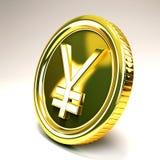 Pièce d'or de Yens Image libre de droits