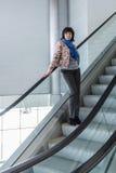 Pièce d'escalator avec le verre image libre de droits