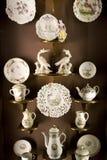 Pièce d'exposition de porcelaines Image libre de droits