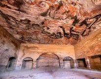 Pièce d'intérieur de temple de PETRA Image stock