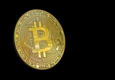 Pièce d'or numérique de cryptocurrency de Bitcoin photos stock