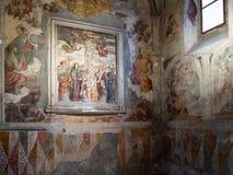 Pièce dans le choeur de nonnes du monastère de Santa Giulia photographie stock