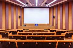Pièce dans le palais de l'Europe, le siège du Conseil de l'Europe Strasbourg, France Images libres de droits