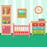 Pièce de bébé avec des meubles Images stock