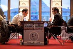 Pièce de B.Gelfand et de S.Mamedjarov Photos stock