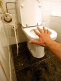 Pièce de Bath et carte de travail Image stock