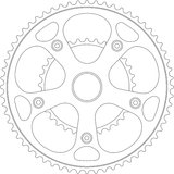 Pièce de bicyclette de trains illustration libre de droits