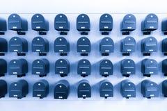 Pièce de boîtes aux lettres de signalisation Images stock